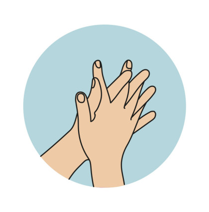 Illustrationer handhygien